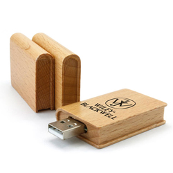 Book USB Made of wood printed