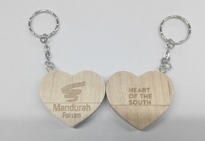 Heart Shaped Wood USB