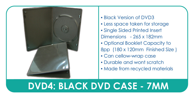 Slim Black DVD Case