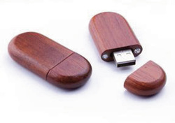 Wood USB Oval Shape