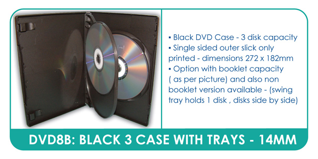 3 Disc DVD Case