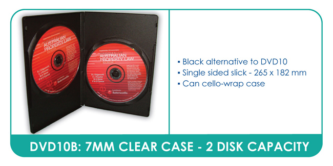 Slim Black DVD Cases